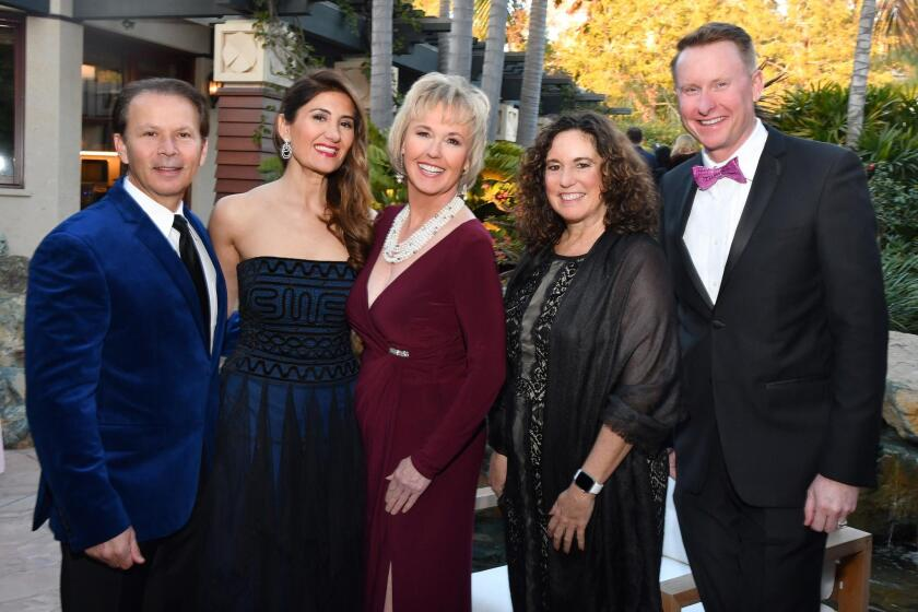 Mark and Candice Powell (SDIFF honorary chairs), Tonya Mantooth (SDIFF co-founder/artistic director/CEO), Cindy Marten (SD Unified School District superintendant), Russ Sperling (SD Unified School District director of visual and performing arts)
