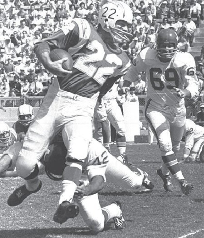 Keith Lincoln gained 329 yards from scrimmage in the 1963 AFL Championship Game. (File photo / Associated Press)