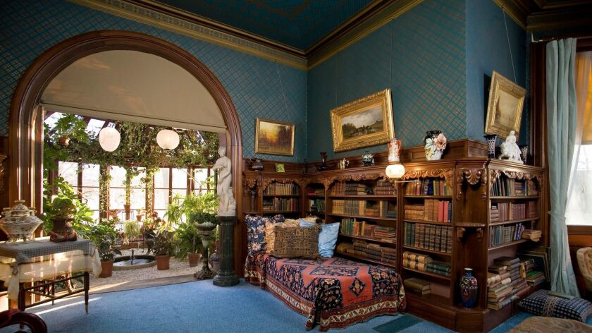 An interior photograph of the library of the Mark Twain House. Credit: John Jroo / Mark Twain House