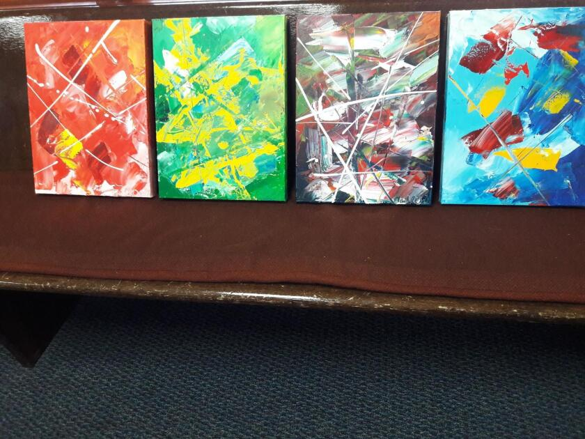 Paintings by La Jolla Lutheran Church pastor Mark Dahle
