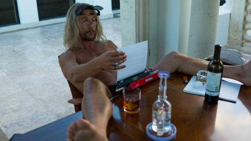 """Matthew McConaughey in the movie """"The Beach Bum."""""""