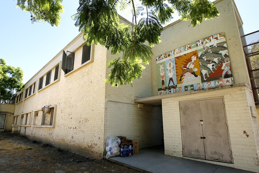 Los Angeles County supervisors on Tuesday authorized a study to help determine whether to break the Probation Department into separate entities for adults and juveniles. Above, an old building at Central Juvenile Hall in Los Angeles.