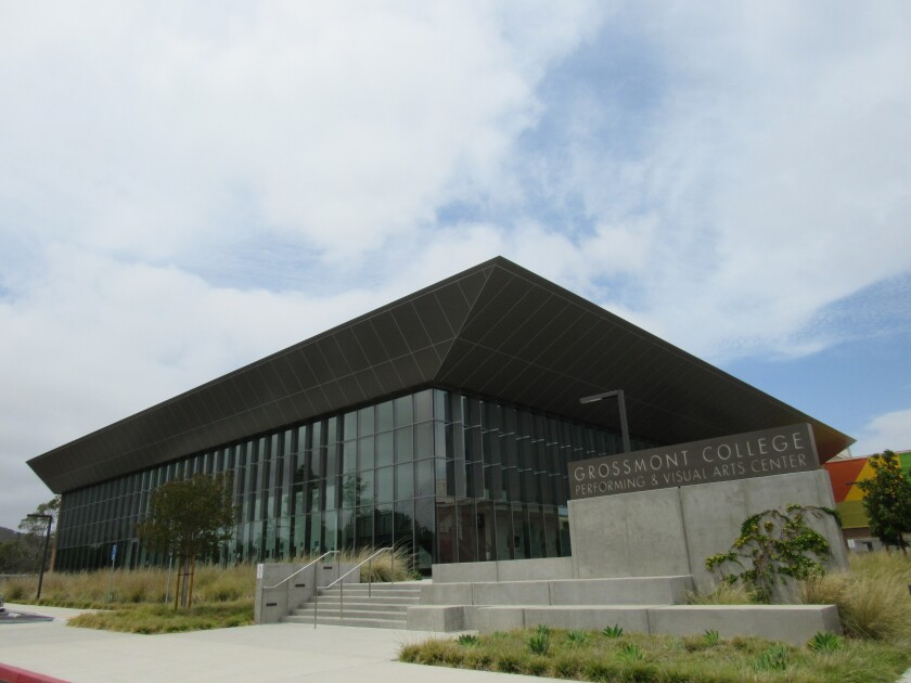 Grossmont College's new performing and visual arts center has been completed, though it isn't yet open to the public