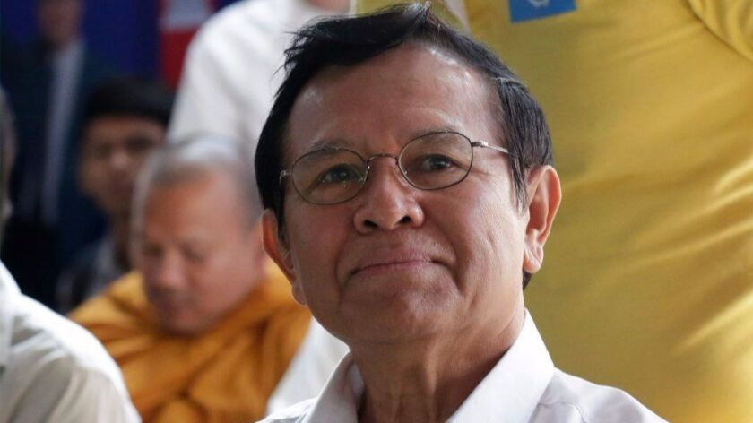 Kem Sokha, president of the opposition Cambodia National Rescue Party, has been charged with treason.
