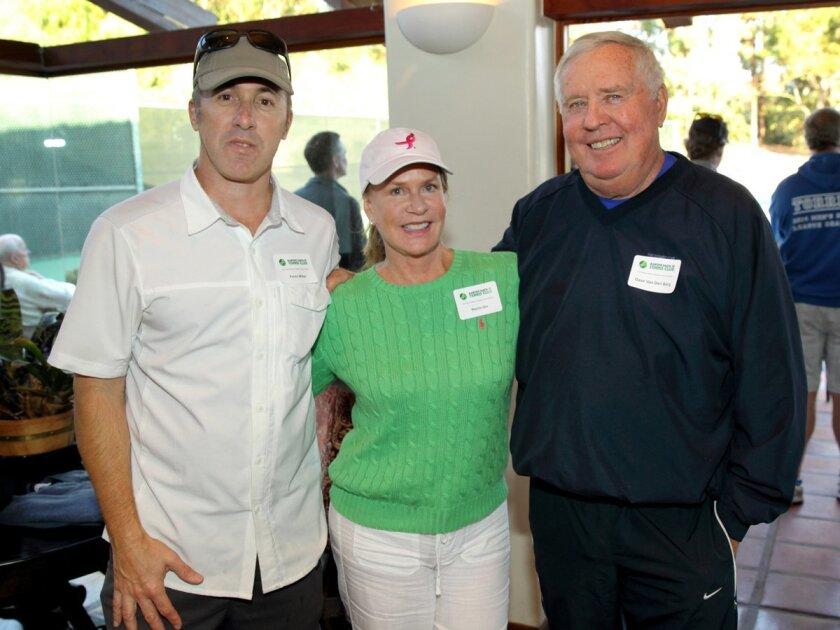 Kevin Miller, Perrin Orr, Dave Van Den Berg (Rancho Santa Fe Tennis Club President)
