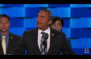 Rep. Ami Bera of California speaks at the Democratic National Convention
