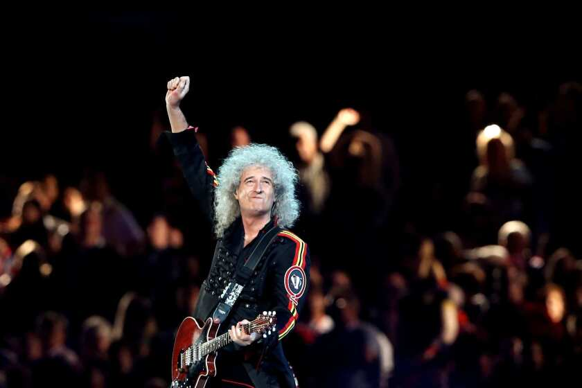 Queen's Brian May announced on Instagram that he has been hospitalized after injuring his buttocks.