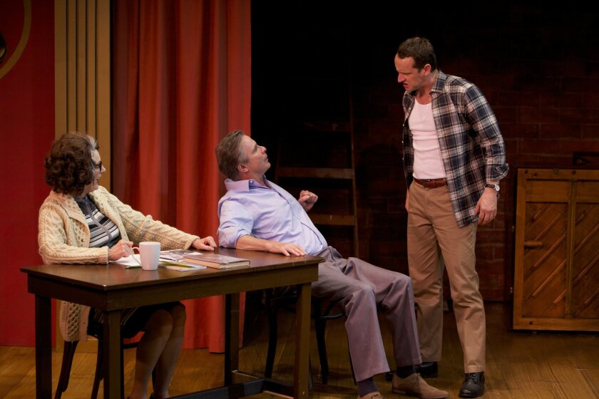 """Rosina Reynolds, Jim Leaming and Jason Maddy (left to right) in """"Who Am I This Time? (& Other Conundrums of Love."""""""