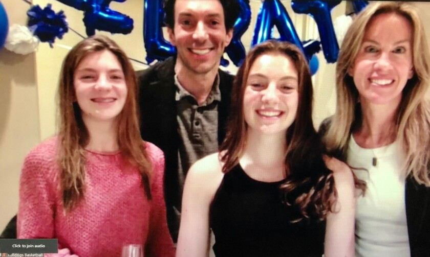 Quinn O'Donnell (front, center), the Boys & Girls Clubs of San Dieguito Youth of the Year