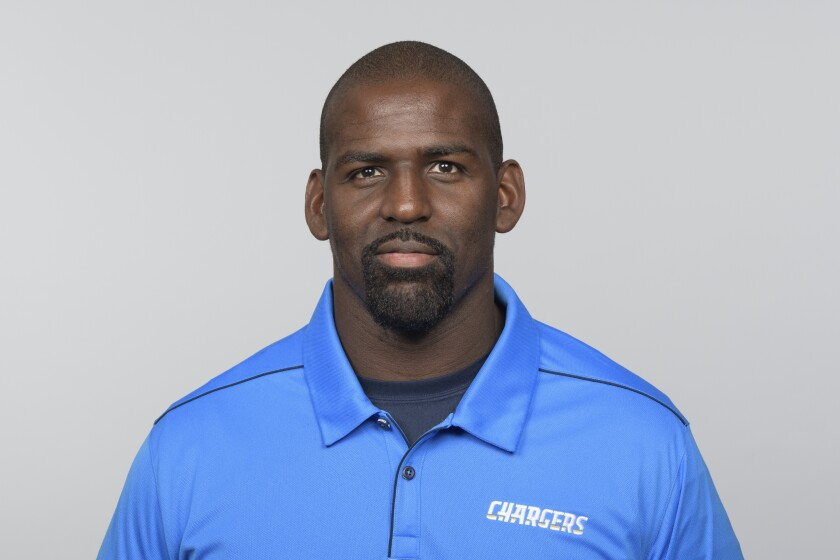 Chargers assistant defensive backs coach Chris Harris
