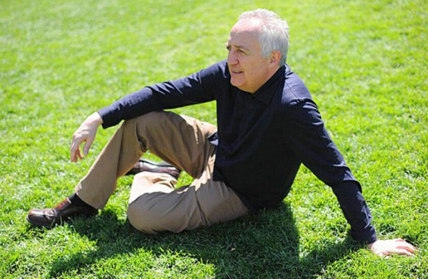 Conductor Bramwell Tovey on the lawn in Lincoln Center in Manhattan, NY.
