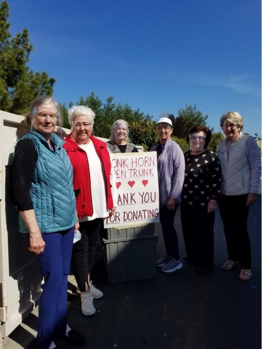"""Members of the Carlsbad Newcomer's Club """"Love Your Neighbor"""""""