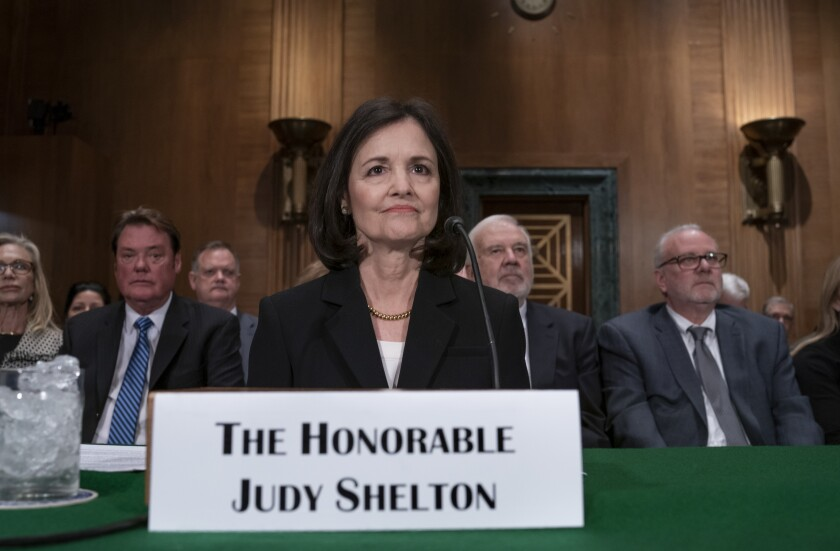 Judy Shelton on Capitol Hill in February 2020