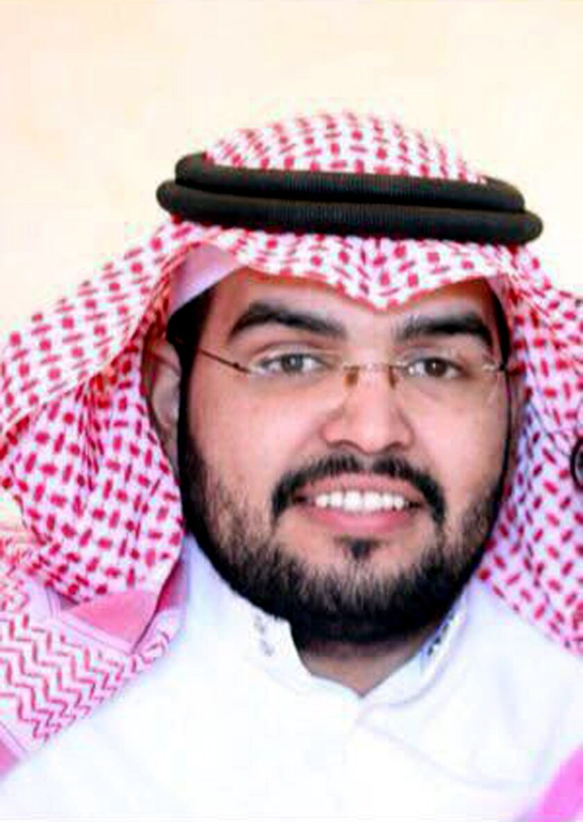 This July 2013 photo provided by Abdulaziz al-Shubaily, shows Abdulaziz al-Shubaily in the al-Qassim province of Saudi Arabia. Rights group Amnesty International said Monday, May 30, 2016 that a court in Saudi Arabia sentenced al-Shubaily, a member of an independent human rights organization, to ei