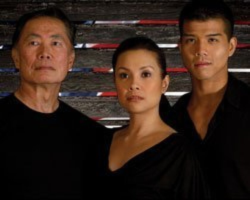 George Takei, Lea Salonga and Telly Leung star in the world premiere of 'Allegiance: A New American Musical,' at The Old Globe Theatre. Henry DiRocco