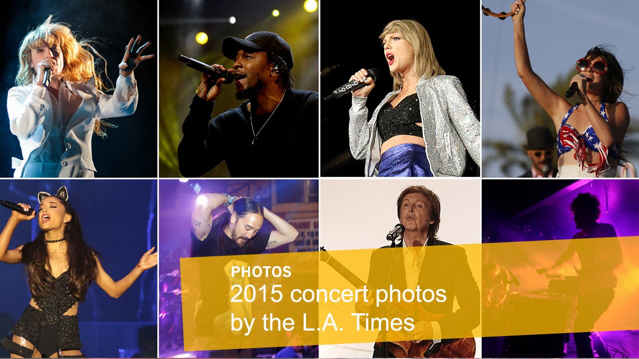 Los Angeles Times photographers document 2015 in music. Read the accompanying reviews by clicking links in captions.