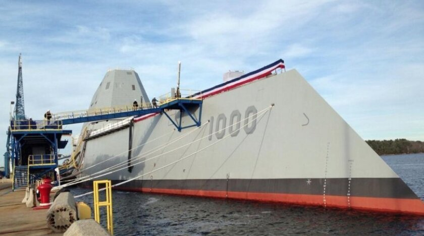 The Zumwalt was designed to eventually carry the Navy Rail Gun.