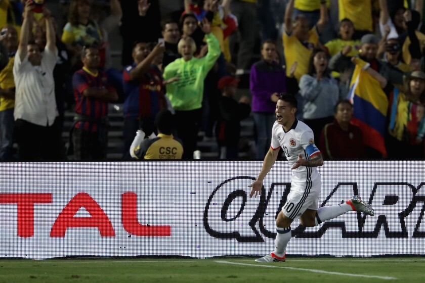 James Rodríguez: desde hace dos días sabía que iba a jugar contra Paraguay.