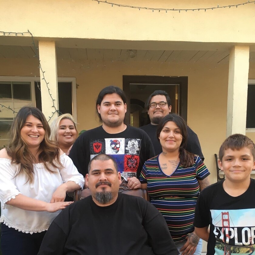 Guillermo Ramirez and his family
