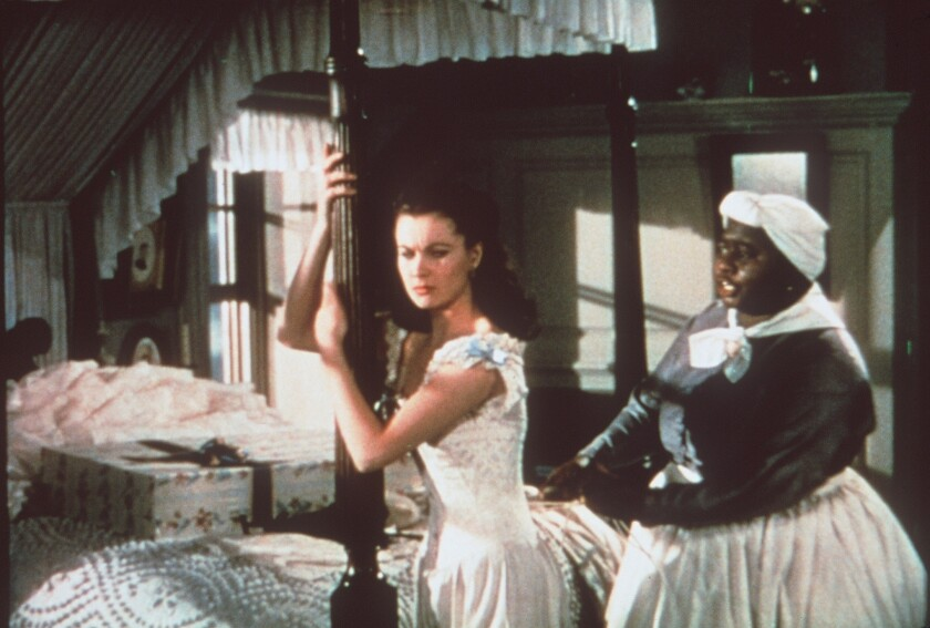 """Gone With the Wind"" starred Vivien Leigh, left, as Scarlett O'Hara and Hattie McDaniel as house servant Mammy."
