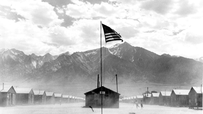 Manzanar Relocation Center, 300 miles from Los Angeles in the desert region of California, was the wartime home for scores of Japanese American families evacuated from their homes under Executive Order 9066.
