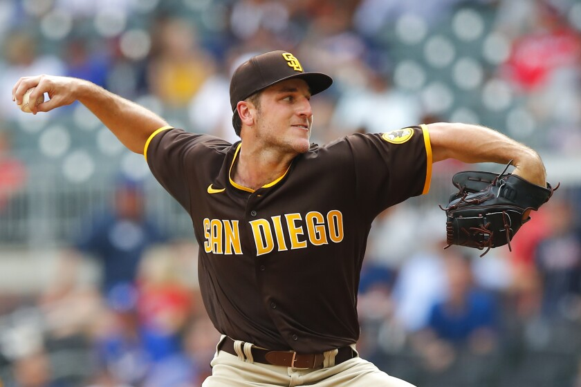 The Padres' Reiss Knehr
