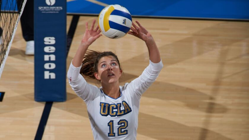 Torrey Pines alum Ryann Chandler leads the Bruins with 633 sets and 15 service aces.
