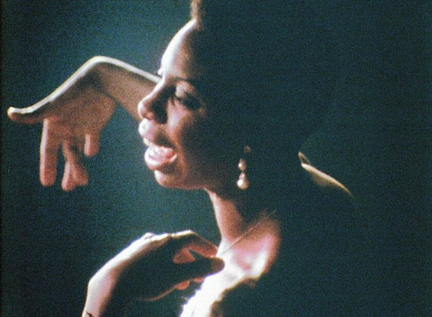 "Nina Simone in the documentary movie ""What Happened, Miss Simone?"""