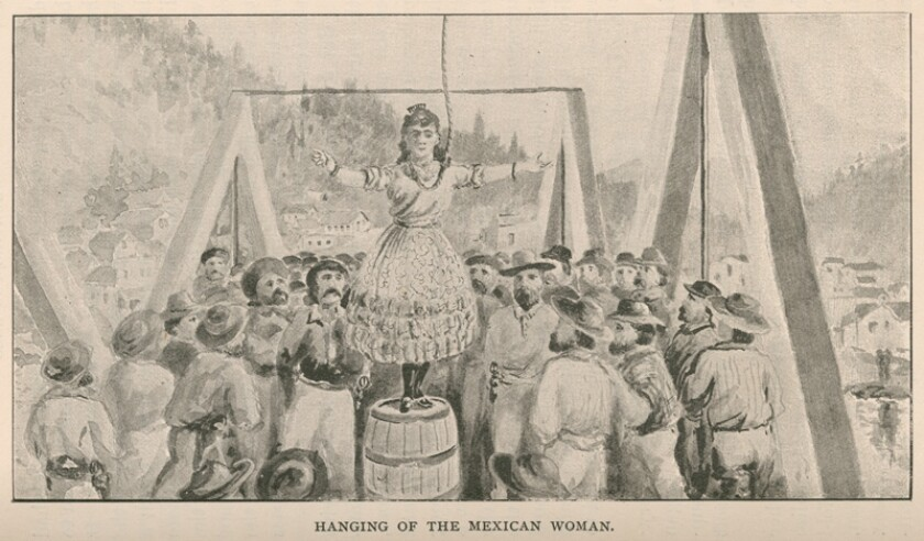 A depiction of the hanging of Josefa