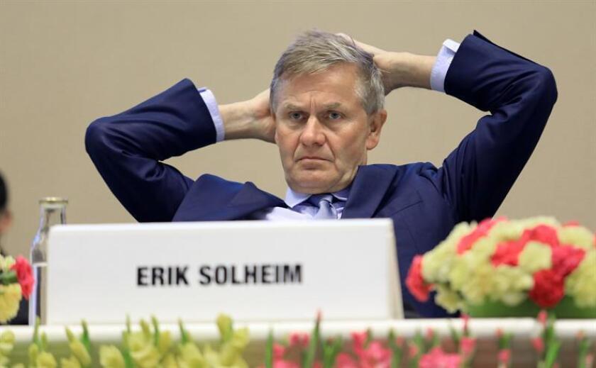Erik Solheim, former Chief of United Nations Environment Programme (UNEP). EFE/EPA/STR