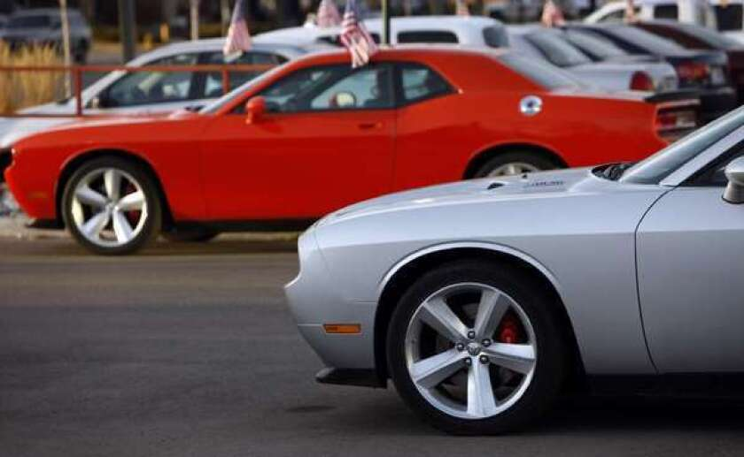 Chrysler is recalling some model year 2013 Dodge Challengers with six-cylinder engines because of a potential fire hazard.