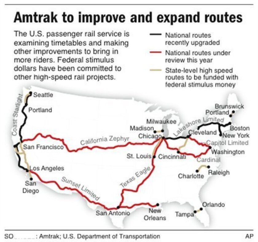 More aboard! Amtrak weighs long route improvements - The San ...