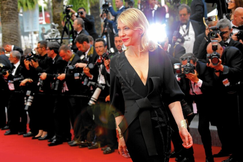 Cate Blanchett attends a screening at Cannes.