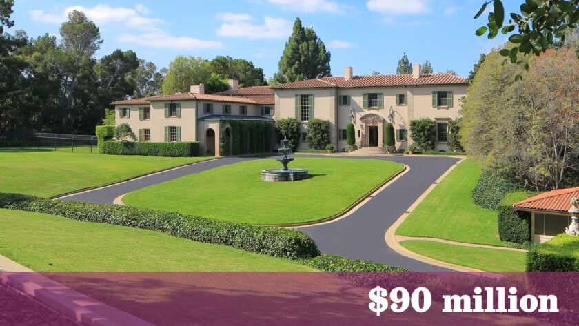 Owlwood, a Westside residence once home to actor Tony Curtis and later singing duo Sonny and Cher, has sold for $90 million.