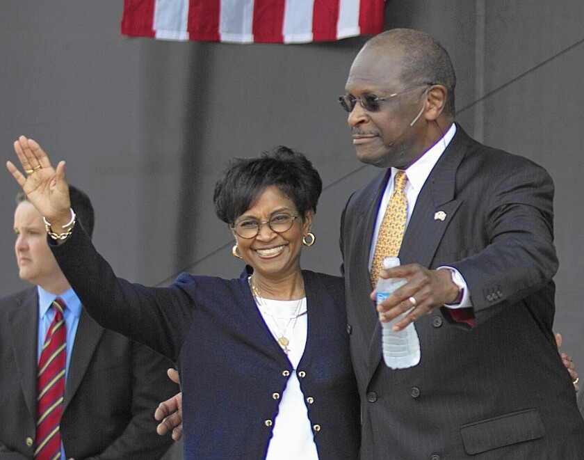 Herman Cain with wife Gloria in 2011.