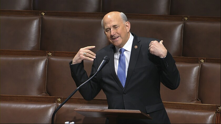 Rep. Louie Gohmert (R-Texas) speaks on the floor of the House of Representatives at the U.S. Capitol in Washington.