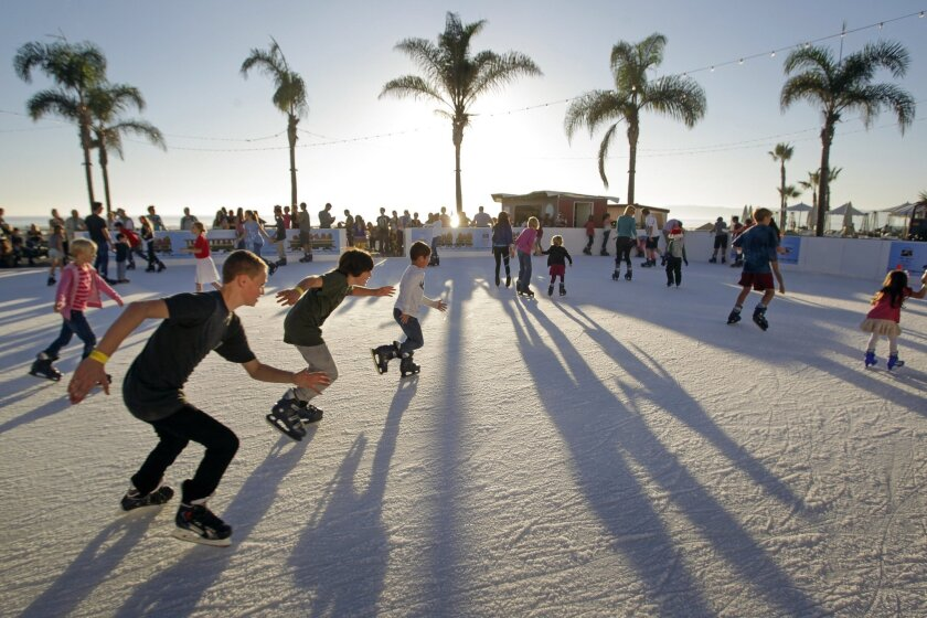 Ice Skating by the Sea