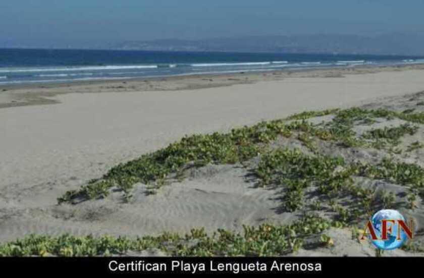 Certifican Playa Lengueta Arenosa