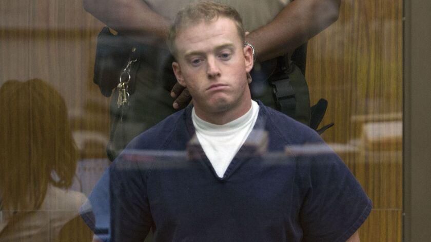 February 26, 2013_Vista_|Defendant Marine Cpl. Kevin Coset in Vista court Tuesday.| Bill Wechter/ U-