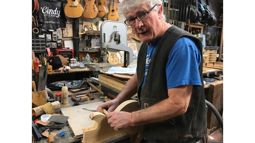 """Rick Kelly in a scene from """"Carmine Street Guitars."""" Credit: Sphinx Productions"""