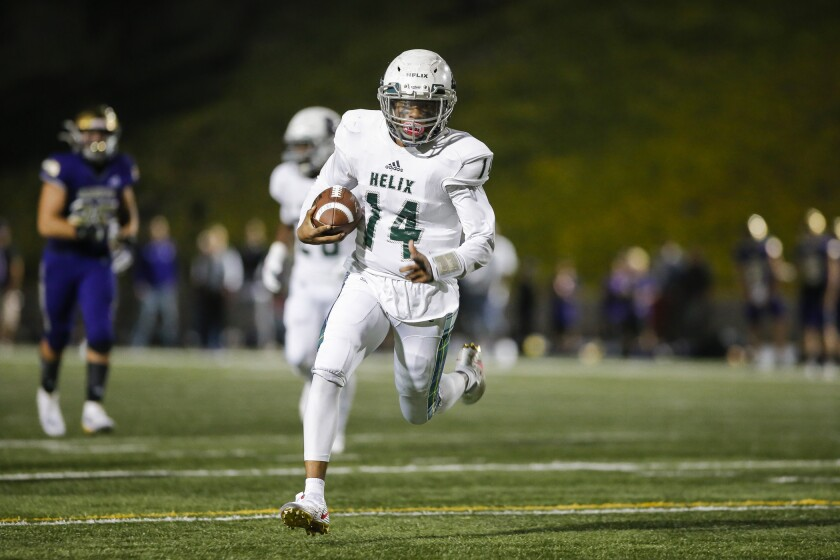 Helix's Delshawn Traylor has committed to Army, where he hopes to receive a shot at quarterback.