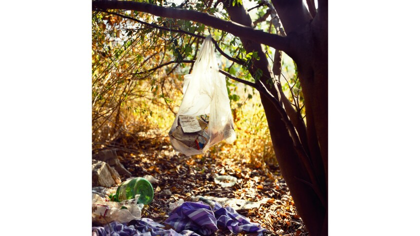 """""""Landscapes for the Homeless #1,"""" 1988, captures the exposed and inhospitable spaces inhabited by L.A.'s homeless."""