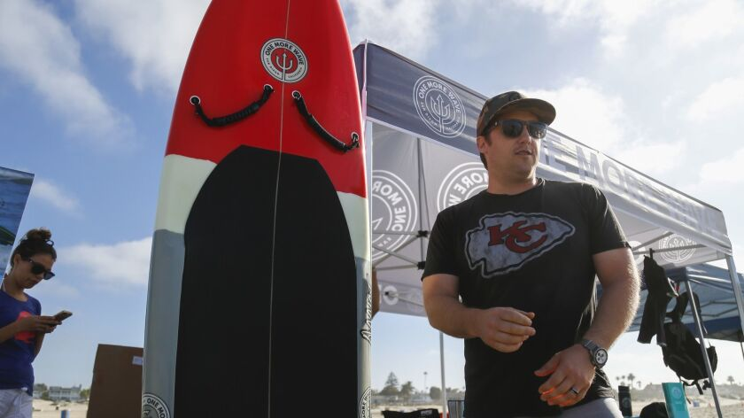 Alex West, a former Navy SEAL, founded his company, One More Wave, to build adaptive surfboards for injured veterans and help vets suffering from PTSD and depression get out on the water.