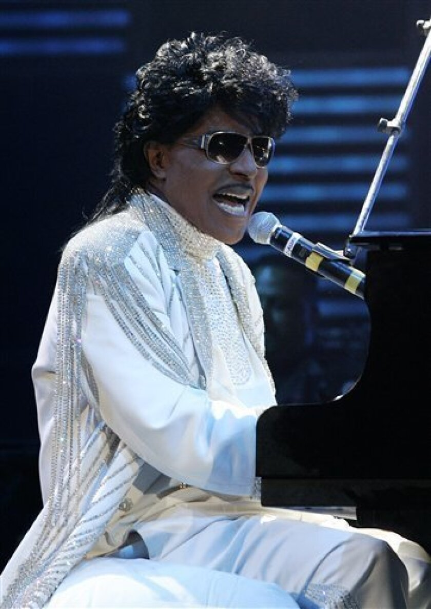 Little Richard performs at The Domino Effect, a tribute concert to New Orleans rock and roll musician Fats Domino, at the New Orleans Arena in New Orleans, Saturday, May 30, 2009. A portion of the proceeds from the concert will go to New Orleans Saints quarterback Drew Brees' charitable foundation,