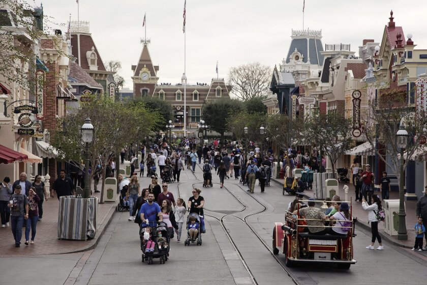 A general view of Disneyland in Anaheim, where a major measles outbreak is centered. There are now 78 cases of the illness in seven states and Mexico.