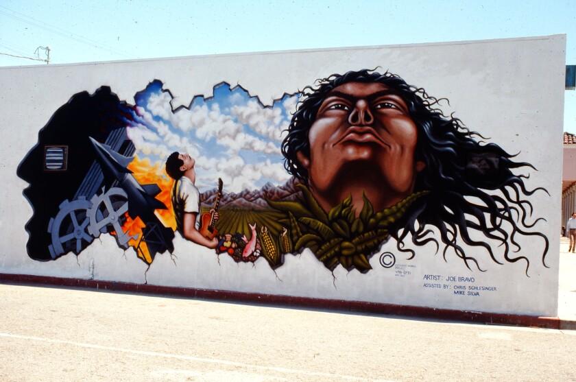 "Joe Bravo's mural ""Spiritual and Technological Man,"" 1978"