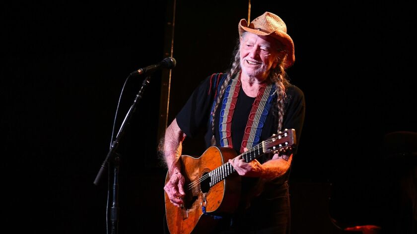 LOS ANGELES, CALIFORNIA AUGUST 18, 2017-Singer Willie Nelson performs at the Shrine Auditorium Thurs