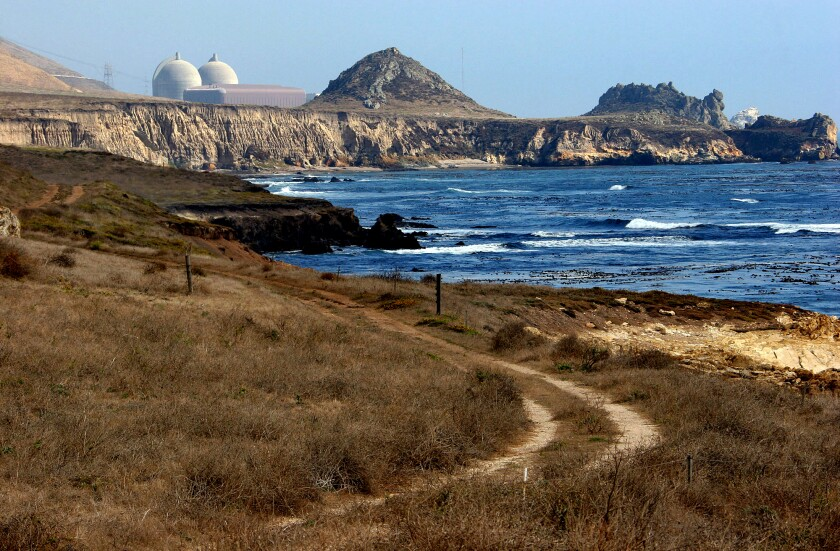 Pacific Gas and Electric's Diablo Canyon nuclear plant, seen in 2005.