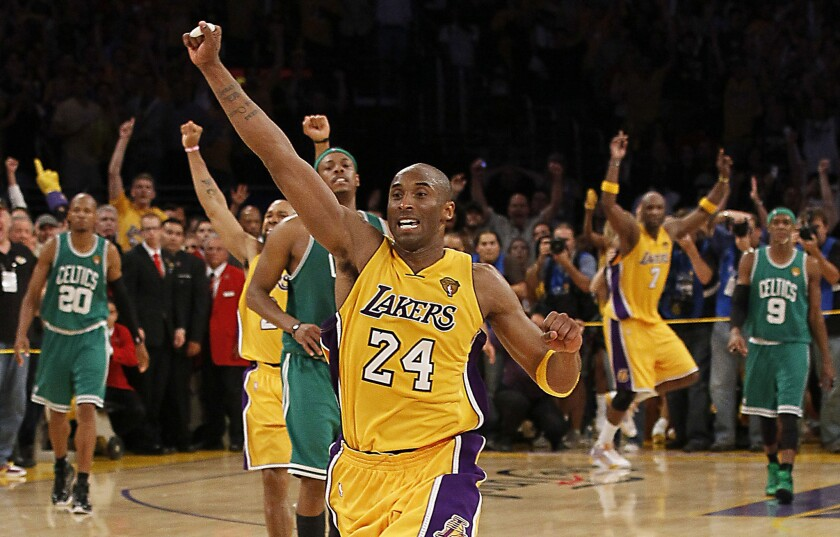 The Lakers overcame a 13-point third-quarter deficit to beat the Boston Celtics in Game 7 of the NBA Finals at Staples Center on June 17, 2010.