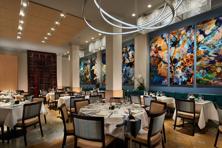 After undergoing a $300,000 renovation in 2017, the dining room at Nine-Ten is now as vibrant as the food.